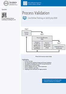 Live Online Training - Process Validation