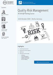 Quality Risk Management - An ICH Q9 Training Course