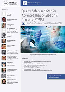 Live Online Conference - Quality, Safety and GMP for Advanced Therapy Medicinal Products (ATMPs)