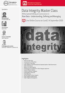 Live Online Training - Raw Data - Understanding, Defining and Managing + Data Integrity Master Class
