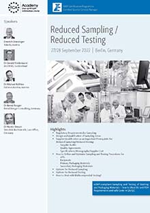 Reduced Sampling - Reduced Testing