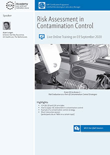 Live Online Training - Risk Assessment in Contamination Control