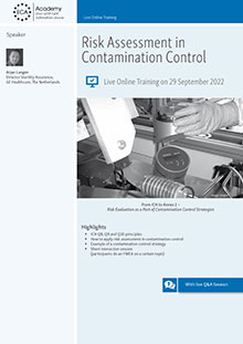 Live Online Training: Risk Assessment in Contamination Control