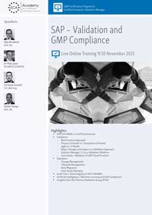 Live Online Training - SAP: Validation and GMP Compliance<br>