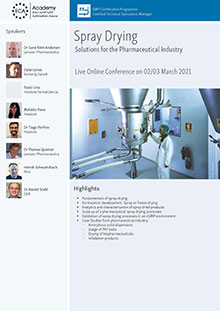 Live Online Conference: Spray Drying