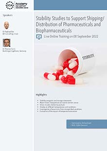 Live Online Training: Stability Studies to Support Shipping/Distribution of Pharmaceuticals and Biopharmaceuticals