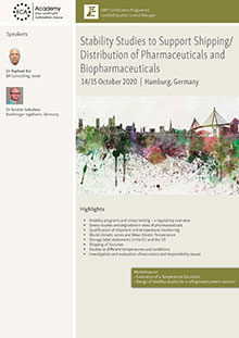 Stability Studies to Support Shipping/Distribution of Pharmaceuticals and Biopharmaceuticals