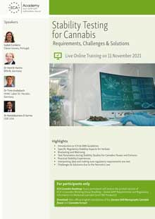 Live Online Conference: Stability Testing for Cannabis – Requirements, Challenges & Solutions