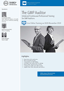 Live Online Training: The GMP-Auditor