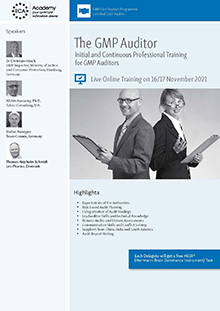 The GMP Auditor  -  Initial and Continuous Professional Training for GMP Auditors