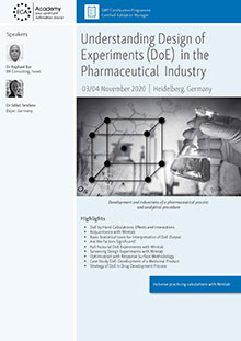 Understanding Design of Experiments (DoE) in the Pharmaceutical Industry<br>Im Auftrag der ECA Academy