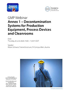 Webinar Series Annex 1 - Decontamination Systems for Production Equipment, Process Devices and Cleanrooms