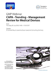 Webinar: CAPA - Trending - Management Review for Medical Devices