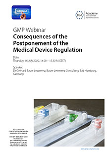 Webinar: Consequences of the Postponement of the Medical Device Regulation