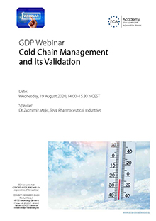 Webinar: Cold Chain Management and its Validation