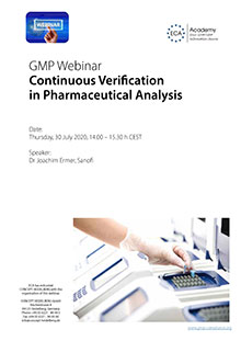 Webinar: Continuous Verification in Pharmaceutical Analysis