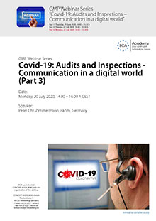 Webinar Series Covid-19: Audits and Inspections – Communication in a digital world (Part 3)