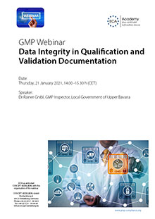 Webinar: Data Integrity in Qualification and Validation Documentation