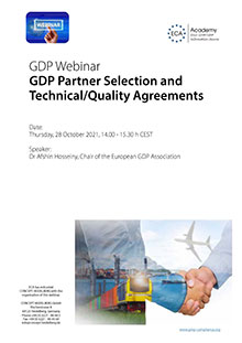 Webinar: GDP Partner Selection and Technical/Quality Agreements
