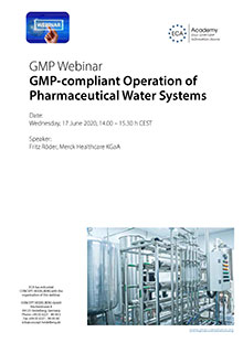 Webinar: GMP-compliant Operation of Pharmaceutical Water Systems