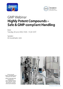 Webinar Highly Potent Compounds - Safe & GMP-compliant Handling