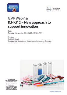 Webinar: ICH Q12 - New approach to support innovation