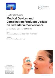 Webinar: Medical Devices and Combination Products: Update on Post-Market Surveillance