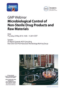 ECA Webinar: Microbiological Control of Non-Sterile Drug Products and Raw Materials
