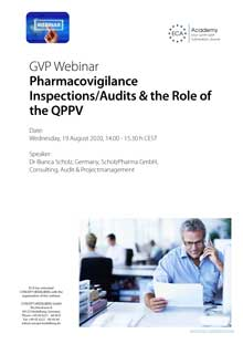 Webinar: Pharmacovigilance Inspections/Audits & the Role of the QPPV