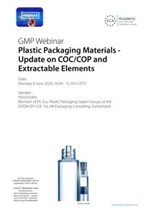 Webinar Plastic Packaging Materials: Update on COC/COP and Extractable Elements