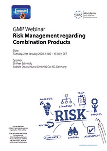 Webinar: Risk Management regarding Combination Products