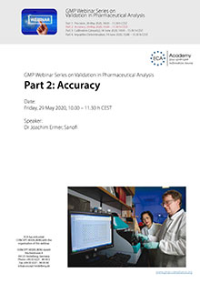 Webinar Series Validation in Pharmaceutical Analysis: Accuracy