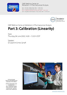 Webinar Series Validation in Pharmaceutical Analysis: Calibration (Linearity)