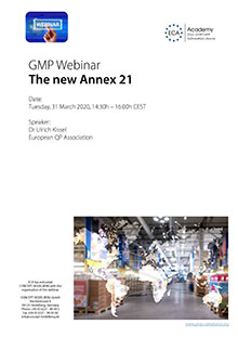Webinar The new Annex 21