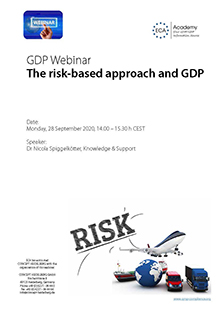 Webinar: The Risk-Based Approach and GDP
