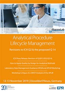 Analytical Procedure Lifecycle Management / Revisions to ICH Q2 & the proposed Q14<br>This conference is part of PharmaLab 2019