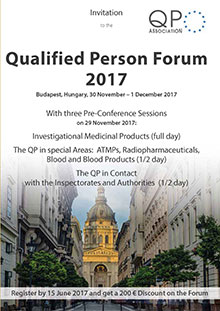 12th QP Forum & 1/2 Day Pre-Conference Session The QP in special Areas