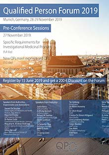 14th QP Forum Full Day Pre-Conference Session: Specific Requirements for IMPs