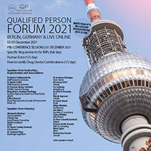 16th Qualified Person Forum - With Pre-Conference Sessions on 01 December - <br>Registration Options for On-Site in Berlin, Live Online - or decide later