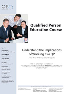 Qualified Person Education Course - Understand the Implications of Working as a QP