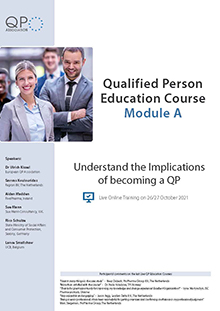 Live Online Training: Qualified Person Education Course Module A