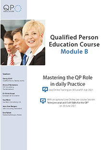 Qualified Person Education Course - Module B