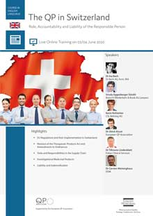 Live Online Training: The QP in Switzerland